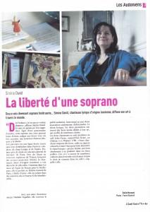 La liberté d'une soprano