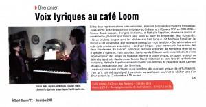 Voix lyriques au café Loom