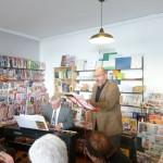 Bertrand et Bruno à la librairie